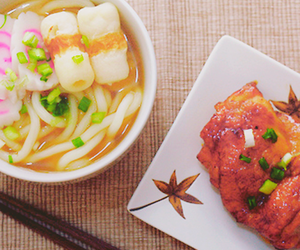 asian, ramen, and vegetable image