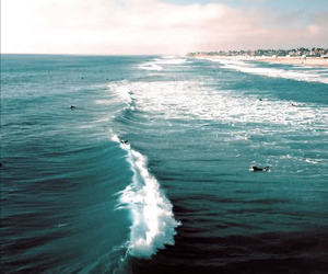 waves, life, and quotes image