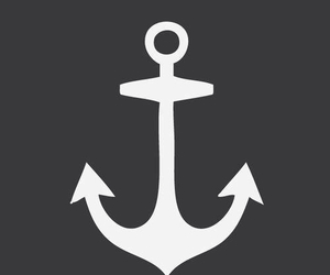 anchor, white, and wallpaper image
