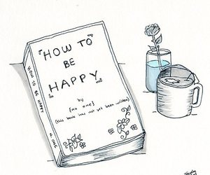 book, happy, and drawing image