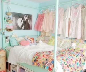 bedroom, pastel, and vintage image