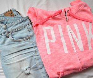 clothes, pink, and shopping image