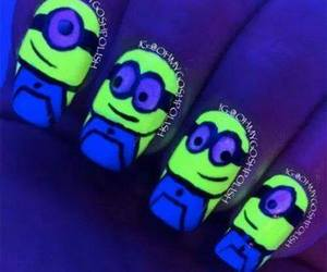 minions, nails, and yellow image