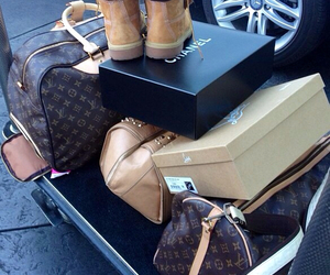 chanel, Louis Vuitton, and timberland image