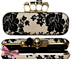 fashion, skull, and clutch image