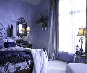 bedroom, purple, and beautiful image