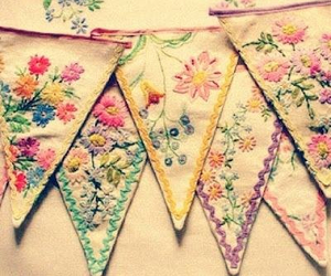 bunting and embroidery image