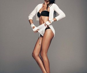 Adriana Lima, fit, and body image