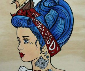 tattoo, hair, and art image