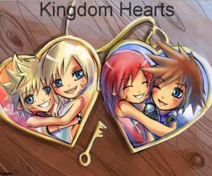 kingdom hearts, sora, and roxas image