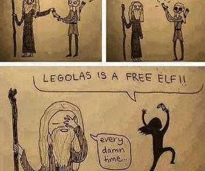 Legolas, gandalf, and harry potter image