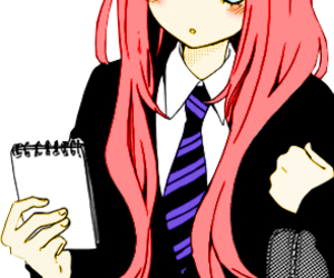 girl and manga image
