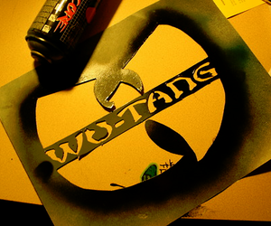 spray paint, wu tang, and yellow image