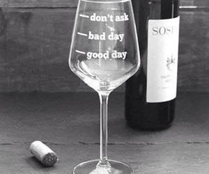 wine, bad day, and glass image