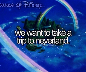 disney, neverland, and peter pan image