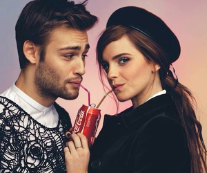 emma watson, douglas booth, and coca cola image
