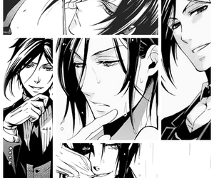 b&w, black butler, and demon image
