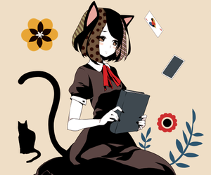anime, neko, and girl image