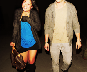 couple, jenna ushkowitz, and michael trevino image