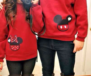 love, couple, and red image