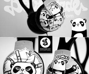 bad, headphones, and panda image