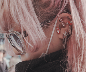 piercing, asian, and earrings image