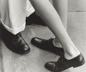 shoes, vintage, and black and white image