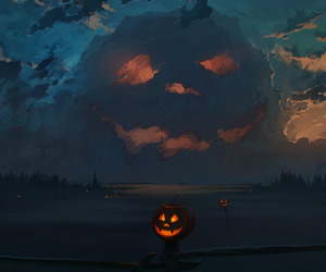 Halloween, pumpkin, and night image