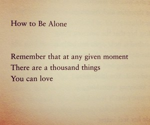 alone, love, and quote image