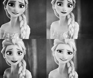 black&white, disney, and frozen image