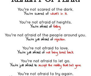 fear, quote, and scared image