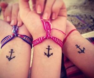 tattoo, friends, and anchor image