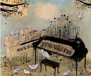 illustration, organ, and separate with comma image