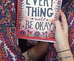 boho, book, and everything will be okay image