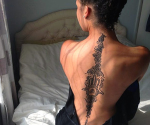 tattoo, back, and ink image
