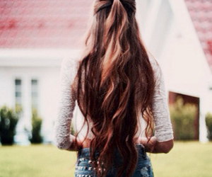 hair, pretty, and long image