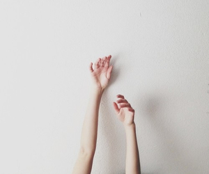 arms, wall, and hands image