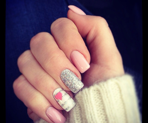 girly, nail art, and pink image
