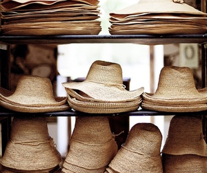 hat, summer, and beach image