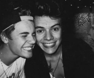 justin bieber, Harry Styles, and one direction image