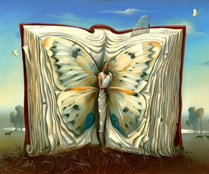book, art, and butterfly image