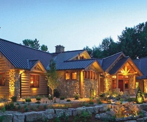 architecture, Country House, and timber and log home image