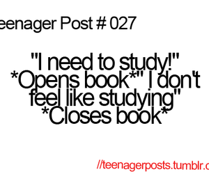 teenager post, funny, and study image