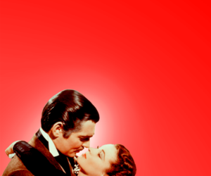 clark gable, Gone with the Wind, and Vivian Leigh image
