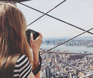 empire state building, new york city, and hipster image