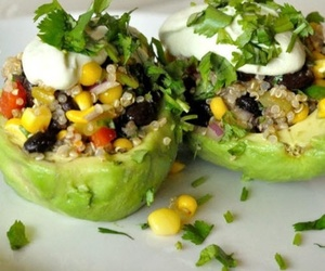 avocado, stuffed, and delicious image