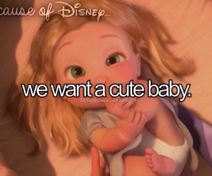 baby, tangled, and because of disney image