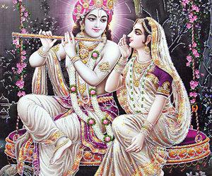 god, Krishna, and radha image