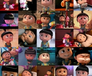 agnes, minion, and despicable me image