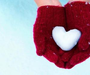 hands, winter, and hearts image